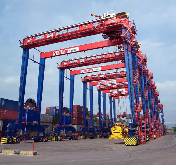 Kalmar Rubber Tyred Gantry Crane :